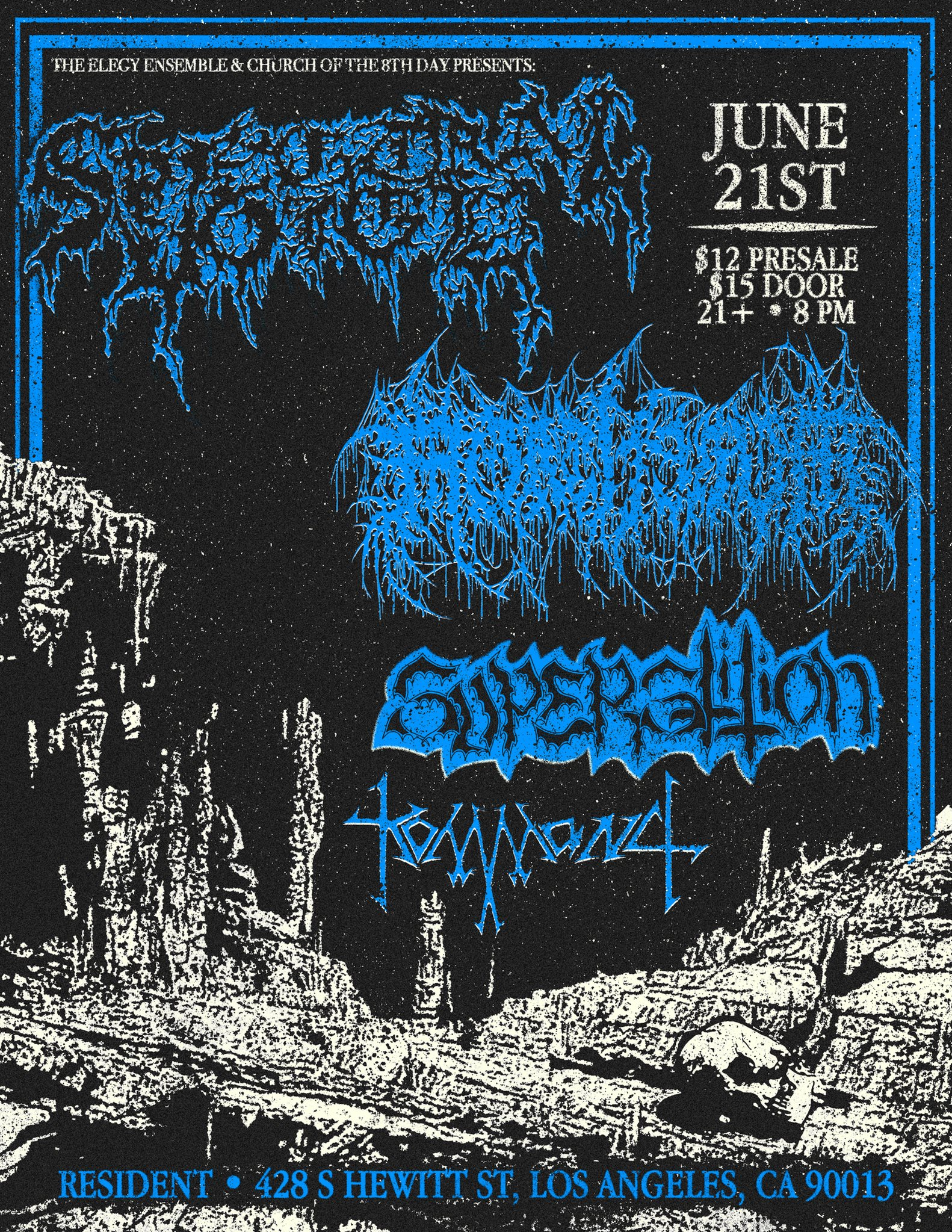 Mammoth Grinder, Mysticism, Kommand at Resident 2-16-2018 at